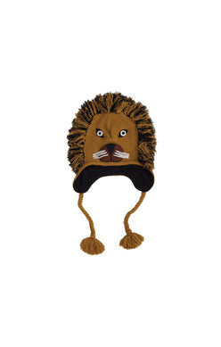Lion Kids Knit Winter Hat