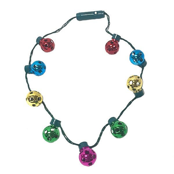Holiday Jingle Bell Necklace Light Up