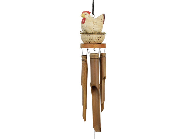 Chicken on Nest Bamboo Wind Chime