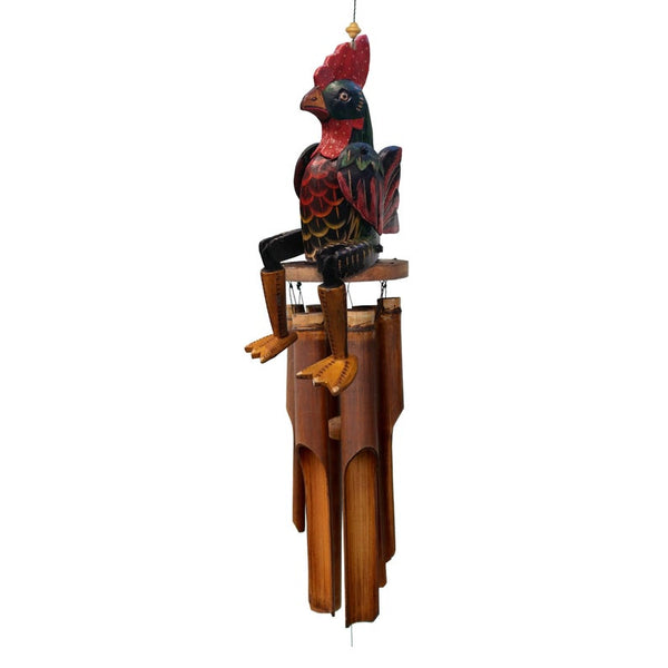Lucky Rooster Bamboo Wind Chime