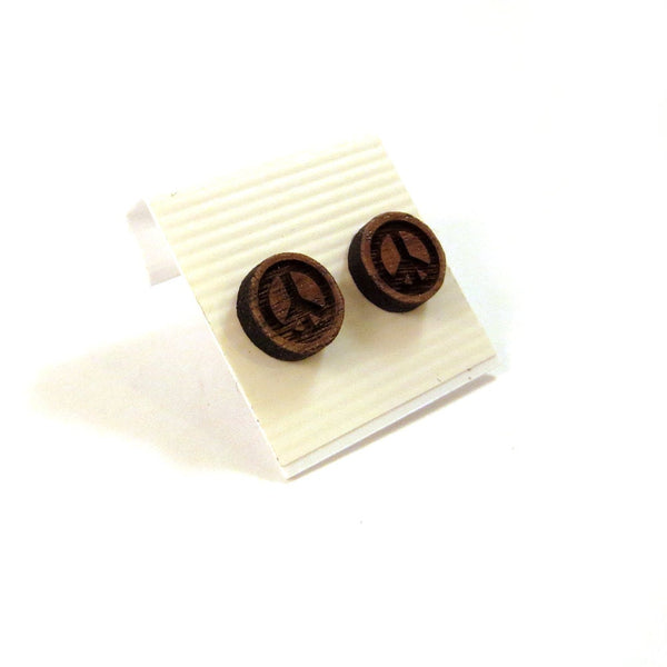 Peace Sign Wooden Studs