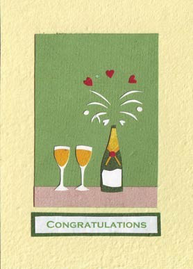 Good Paper Champagne Toast Congratulations Card