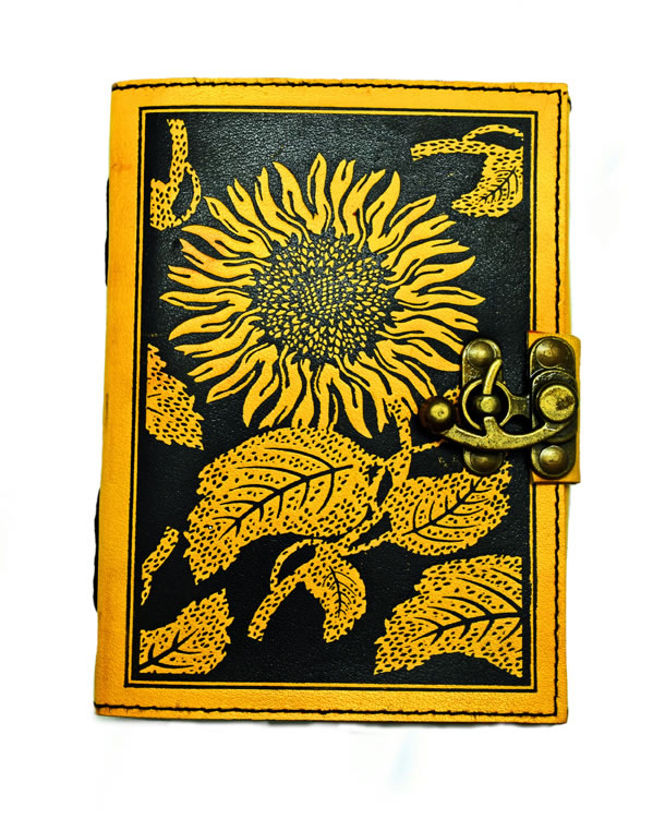 Fantasy Gifts Sunflower Leather Journal