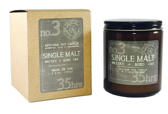 Single Malt Whiskey & Aged Oak Candle (Locally Made)