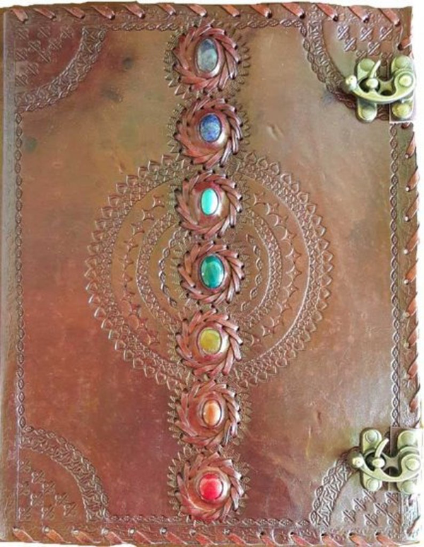 BI 7 Chakra Leather Journal