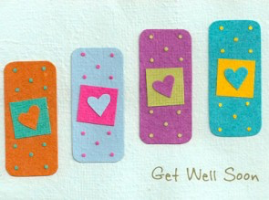 Good Paper Get Well Soon Bandages Card