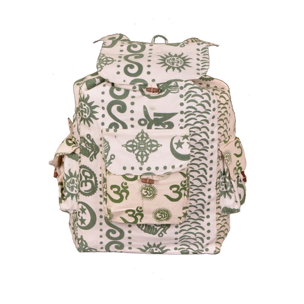 Path Of The Spirit Green Henna Om Backpack
