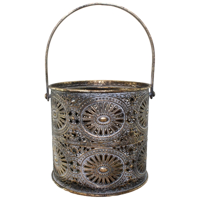World Buyers Tonna Black & Gold Metal Lantern