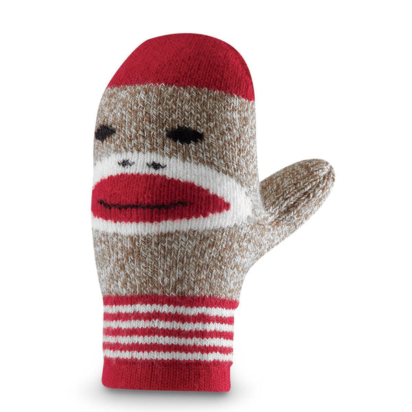 FoxRiver Kids Red Heel Merino Wool Monkey Mittens