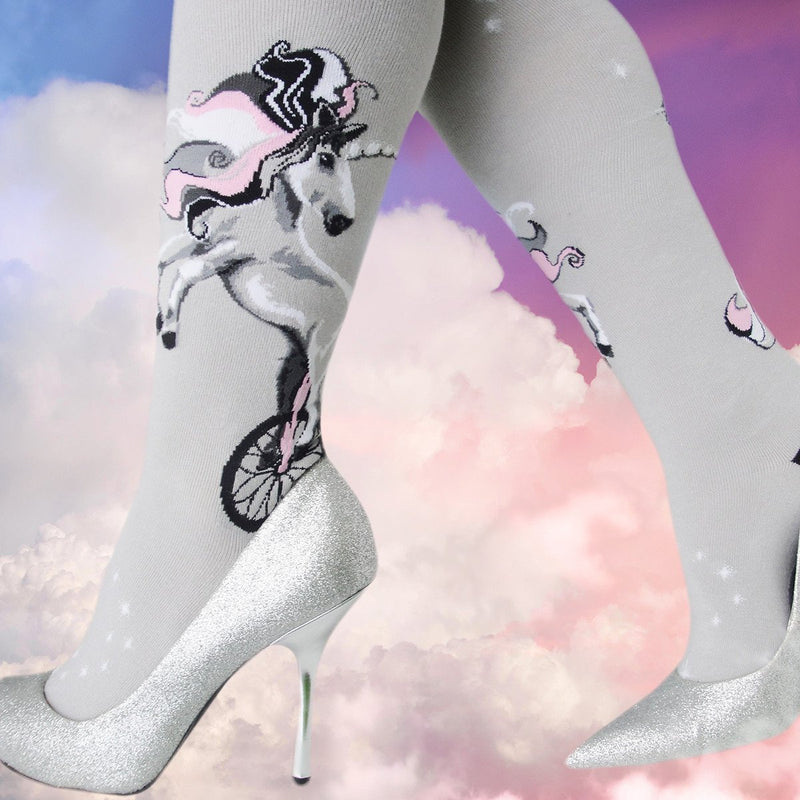 Unicycling Unicorn Knee High Socks