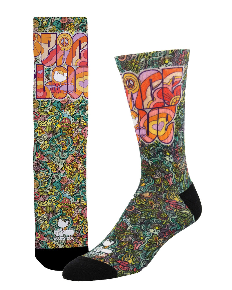 Men's Peace & Love Multi L/XL Socks