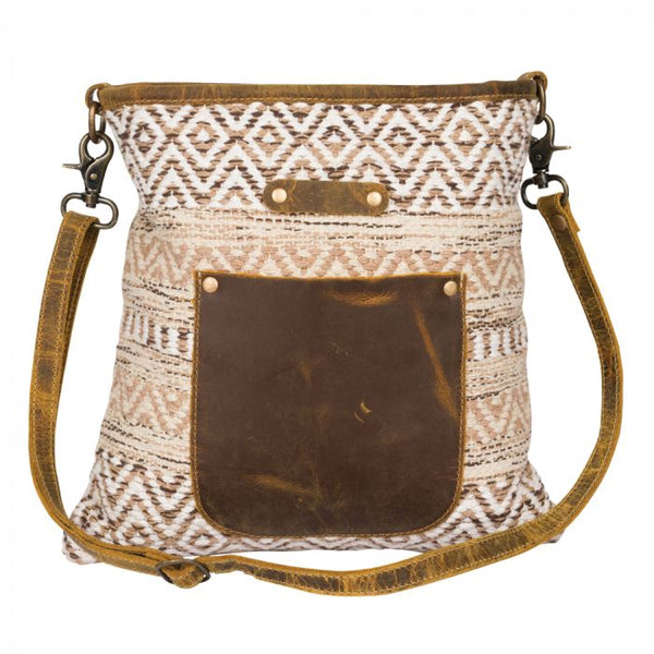 Beige World Shoulder Bag