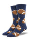 Pigskin Navy Mens Socks