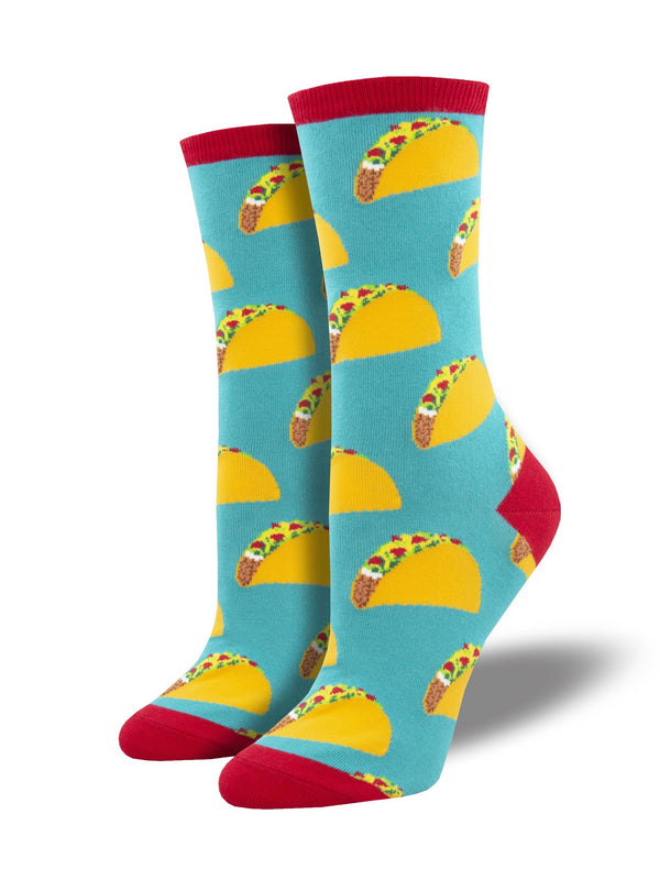 Women's Tacos Teal Socks