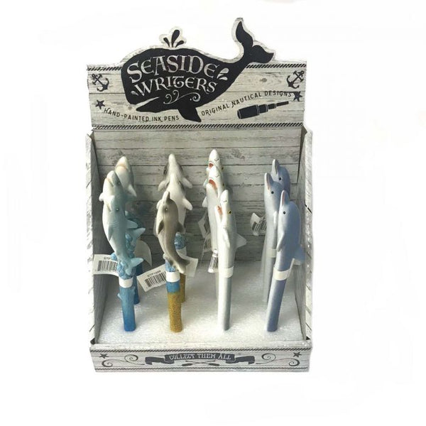 Seaside Writers Dolphin & Shark Pens