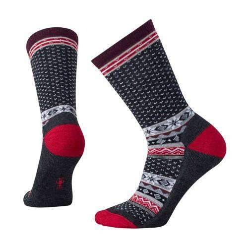 Women's Charcoal Heather Cozy Cabin Crew Socks