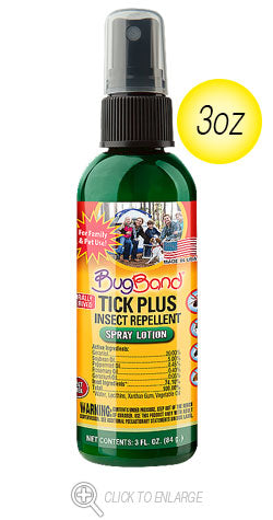 Bug Band Tick Plus Insect Repellant (Geraniol Based)