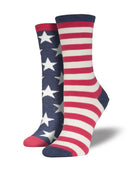 WOMEN'S FLAG - VINTAGE BLUE SOCKS