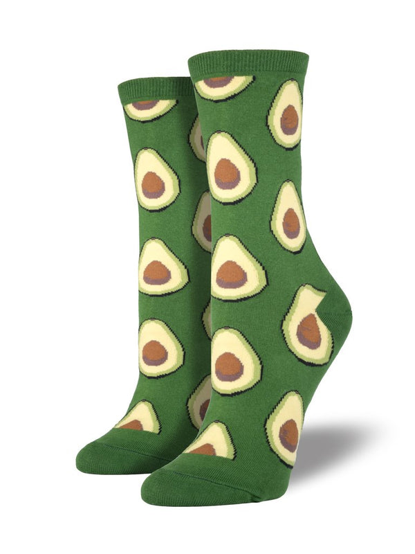 Avocado Parrot Green Womens Socks