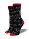 WOMEN'S MATH - BLACK SOCKS