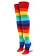 "WOMEN'S ""RAINBOW"" OVER-THE-KNEE SOCKS"