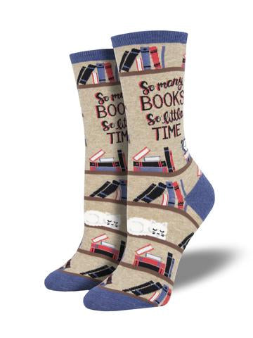WOMEN'S TIME FOR A GOOD BOOK - HEMP HEATHER SOCKS