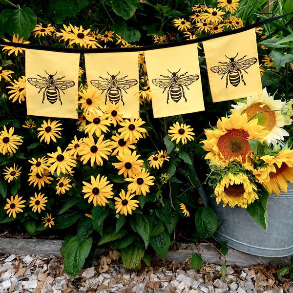 Wind Sparrow Honeybee Indoor/Outdoor Flags