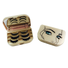 Load image into Gallery viewer, Vegan Human Hair Lashes Travel Size Lash Case Gift Set