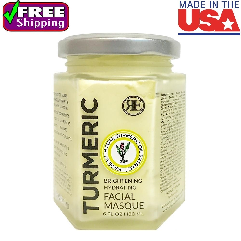 Turmeric Facial Masque Brightener Toner Soften Lines Wrinkles 6 oz USA Made