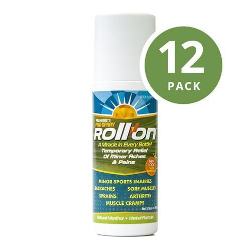 Premiere's Pain Spray Roll-On Natural Pain Relief (12-Pack), 3 Free Travel Spray