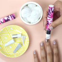 Load image into Gallery viewer, Violife Slim Uno Nail Manicure kit- Pink Camo