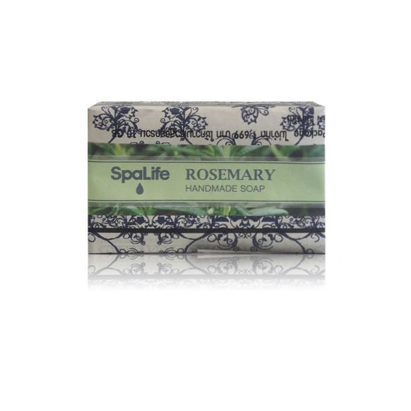 Spa Life Handmade All Natural Newspaper Soap - Rosemary