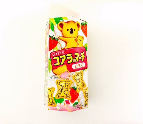 Lotte Koala No March Strawberry Biscuit Snacks (48g)
