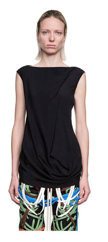 Slash Neck Top, nero