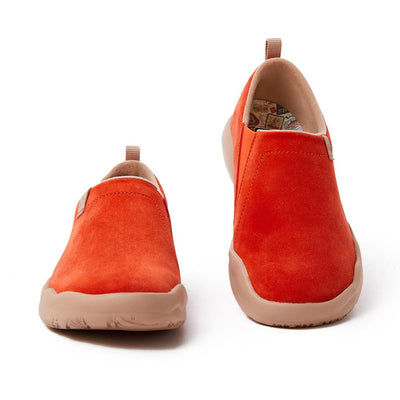 Toledo II Orange Red Cow Suede