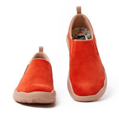 Cuenca Red Cow Suede Women