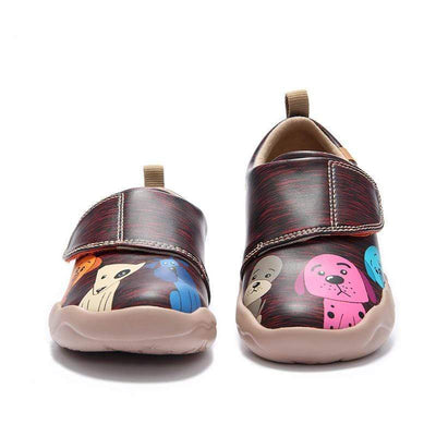 Doggy Cuty Microfiber Leather Kid Shoes - AUE UIN FOOTWEAR