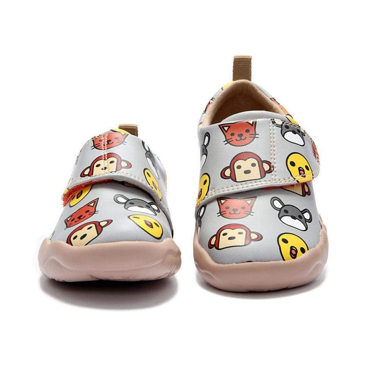 Little Bean Grey Kid Shoes - AUE UIN FOOTWEAR
