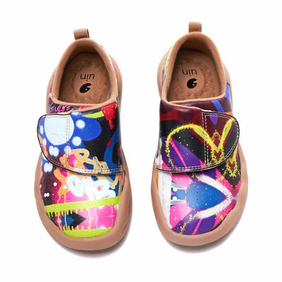 UIN Footwear Kid Watercolor Kingdom Kid Canvas loafers