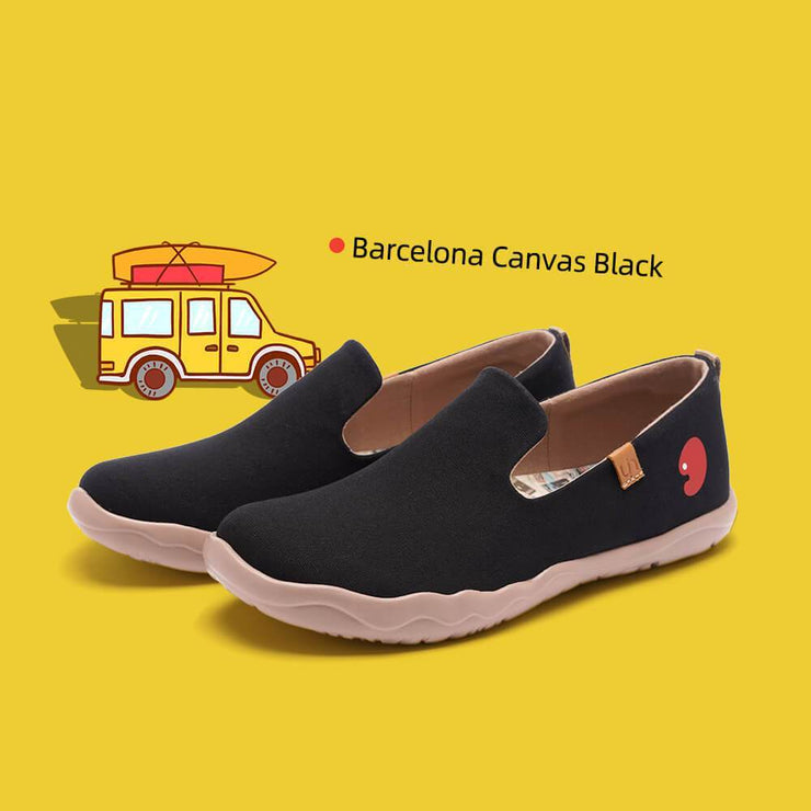 UIN Footwear Men Barcelona Canvas Black Canvas loafers