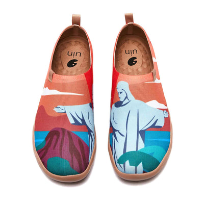 UIN Footwear Men Christ the Redeemer Canvas loafers