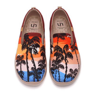 UIN Footwear Men Coconut Tree Canvas loafers