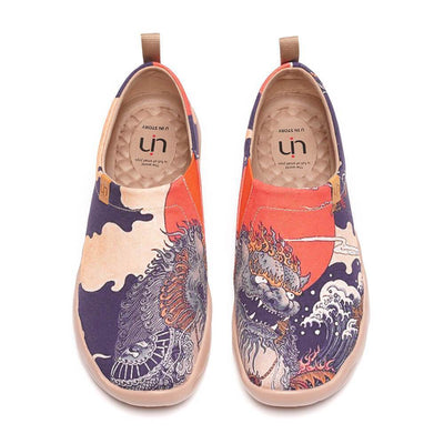 CREATURE Men Art Painted Canvas Fashion Loafers - AUE UIN FOOTWEAR