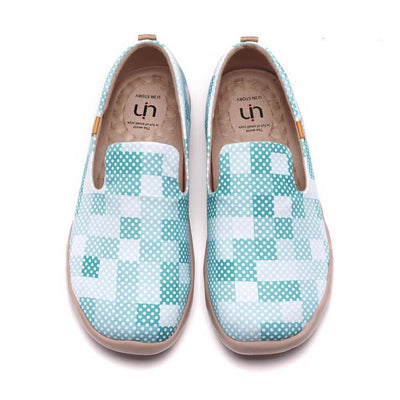 UIN Footwear Men Cubic Ocean Canvas loafers
