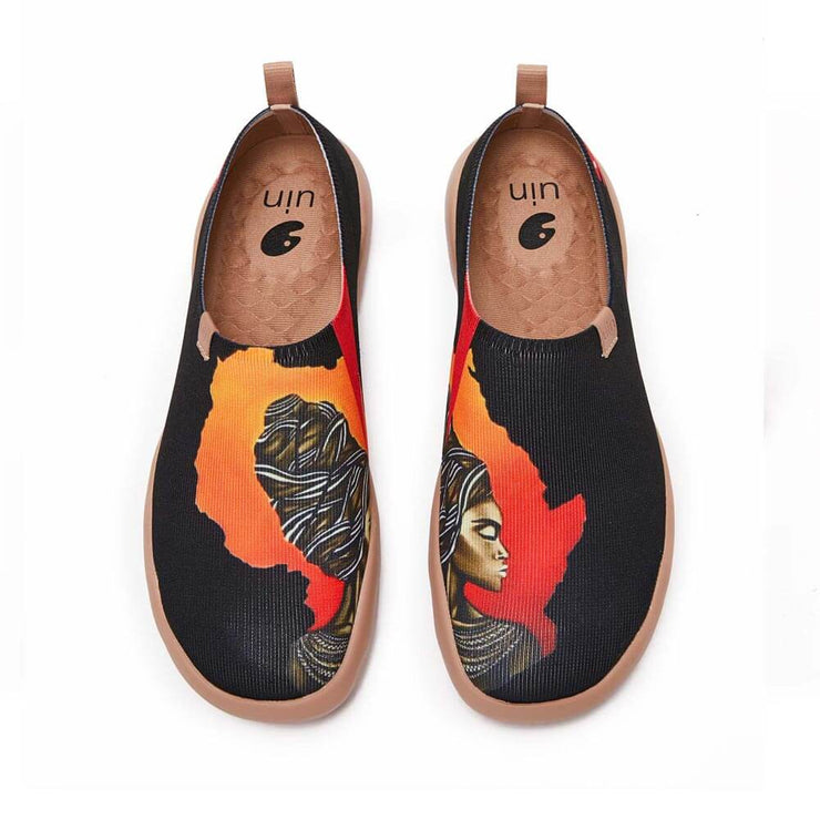 UIN Footwear Men Impressions of Africa Canvas loafers