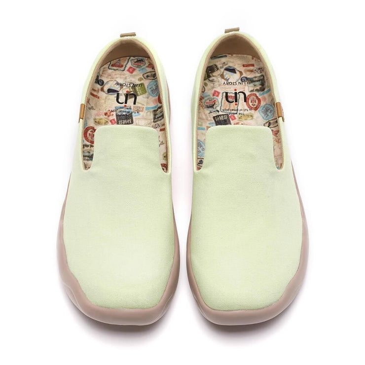 UIN Footwear Women Barcelona Canvas Light Green Canvas loafers