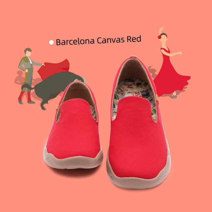 UIN Footwear Women Barcelona Canvas Red Canvas loafers