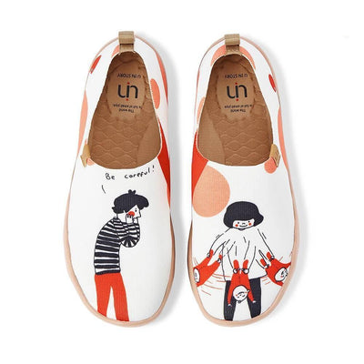 UIN Footwear Women Be Careful Canvas loafers