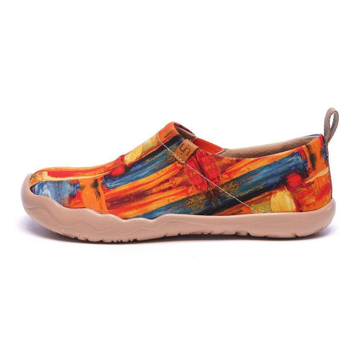 COLOR BRUSH Art Canvas Loafers for Women - AUE UIN FOOTWEAR