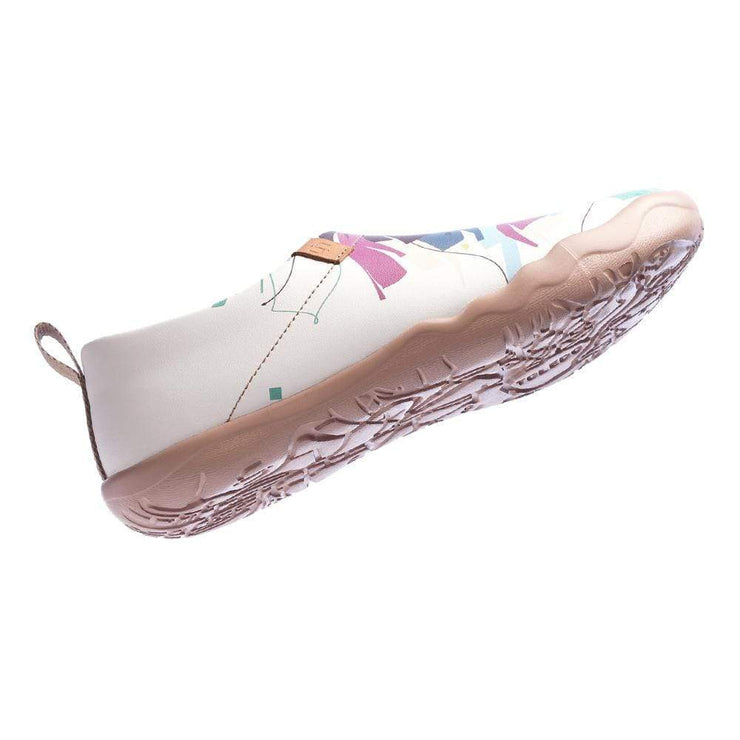 HELLO, LION Multicolored Microfiber Leather Female Flats - AUE UIN FOOTWEAR